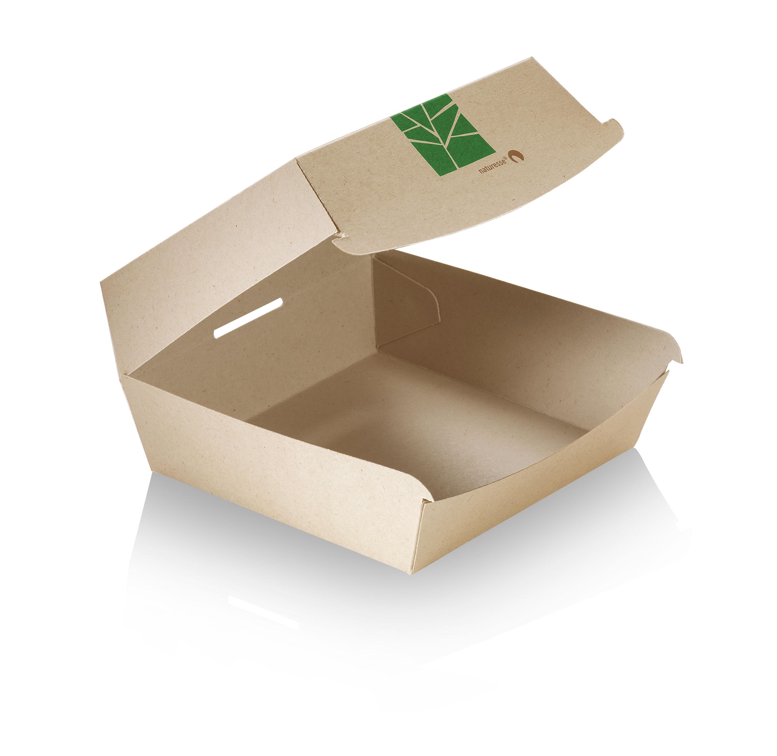 xxx naturesse paperwise burger box mit klappdeckel 16x15 5x9cm neuheiten produkte portal. Black Bedroom Furniture Sets. Home Design Ideas